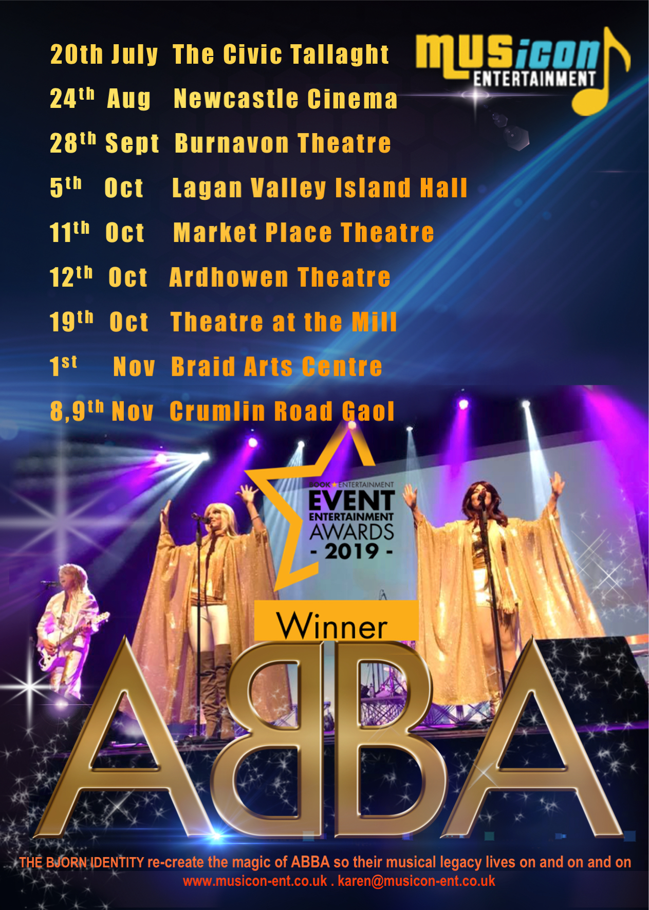 UK & Ireland Best Abba Tribute band
