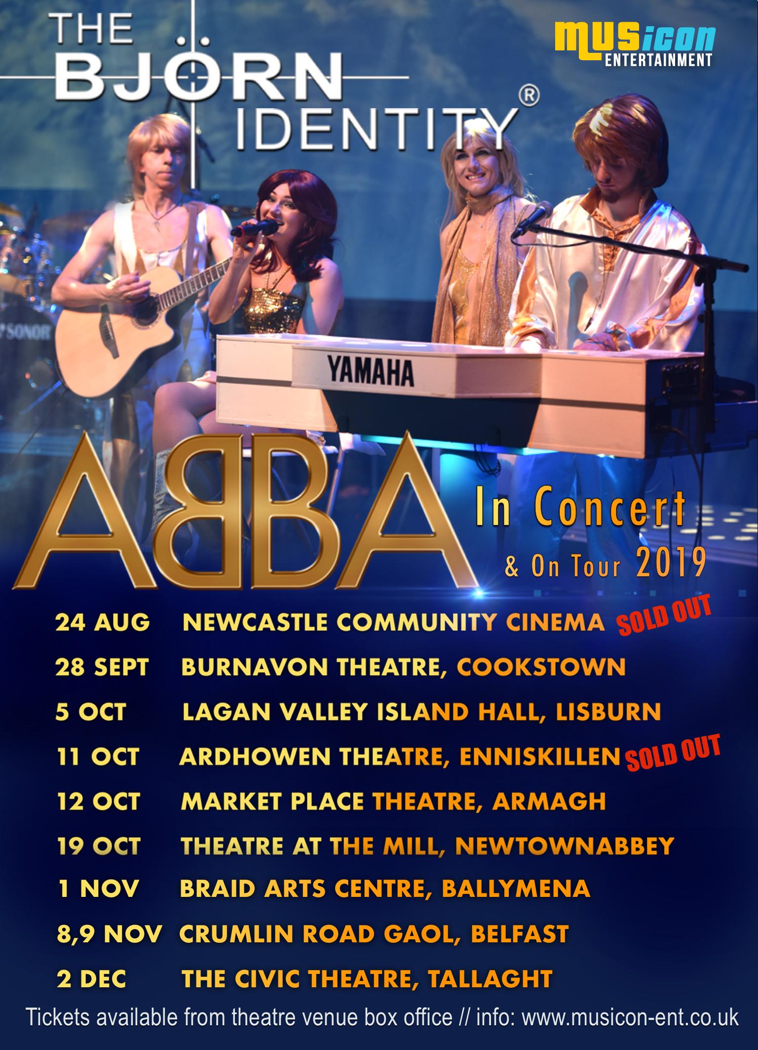 The Bjorn Identity Abba Tribute band theatre tour Ireland